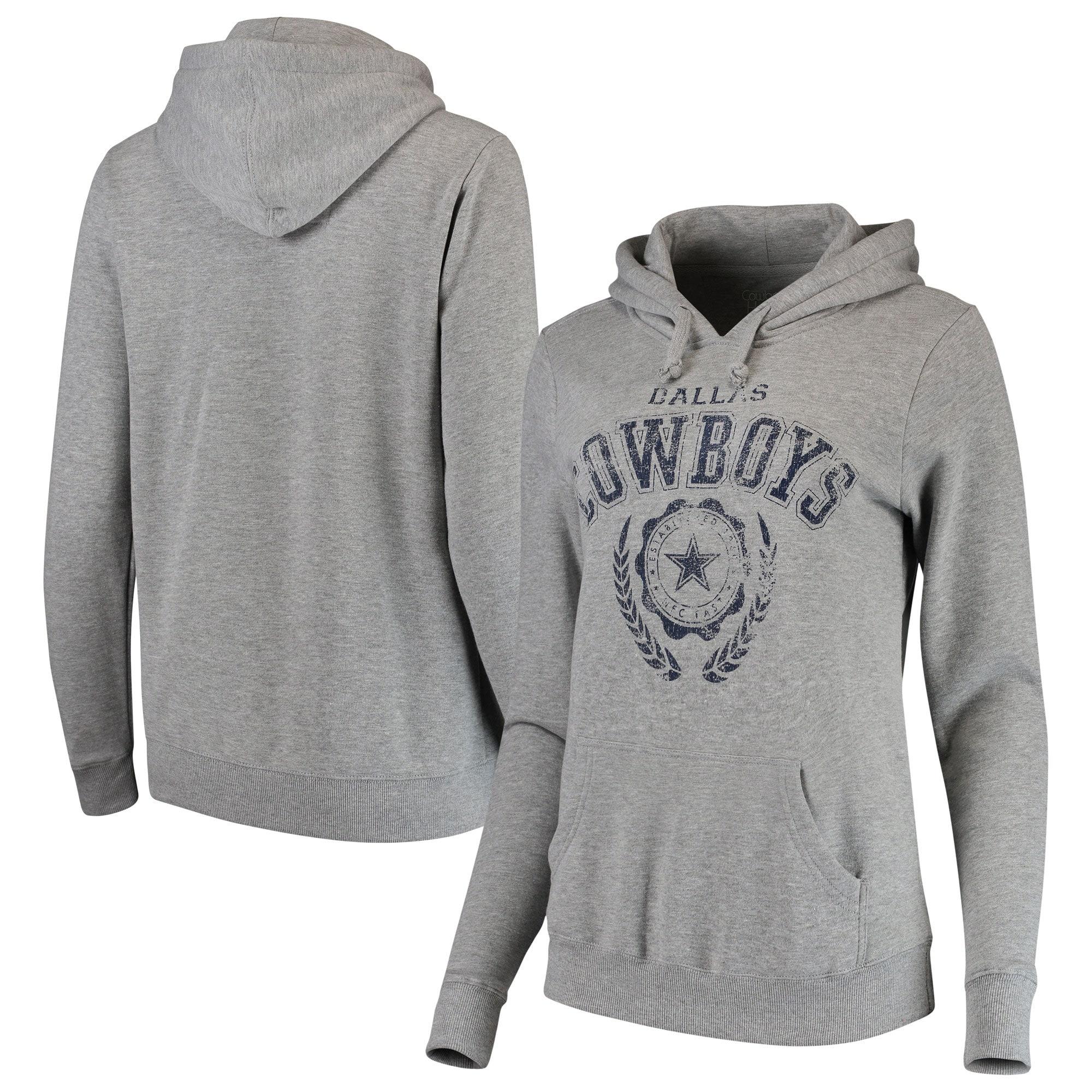 Dallas Cowboys Women's Whelp Pullover Hoodie - Gray