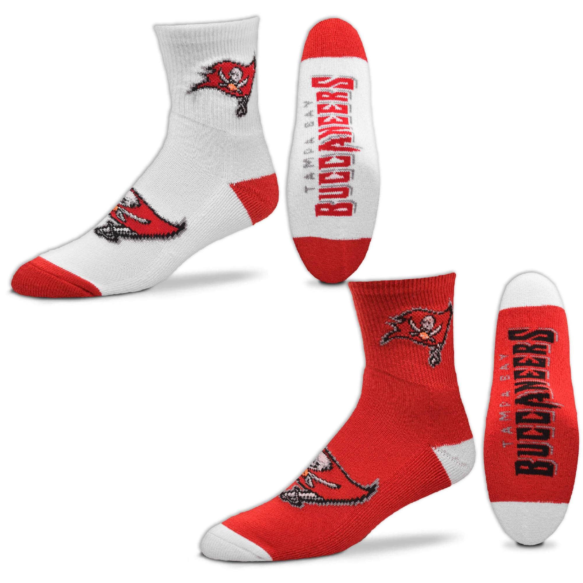 Tampa Bay Buccaneers For Bare Feet Quarter-Length Socks Two-Pack Set