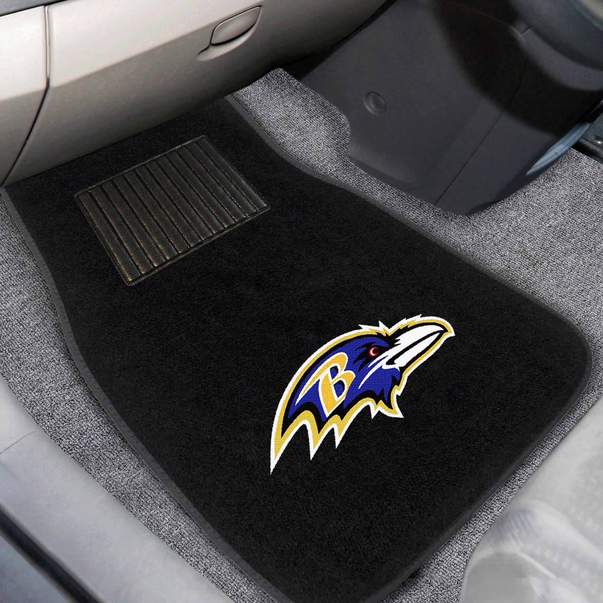 Baltimore Ravens 2-Piece Embroidered Car Mat Set