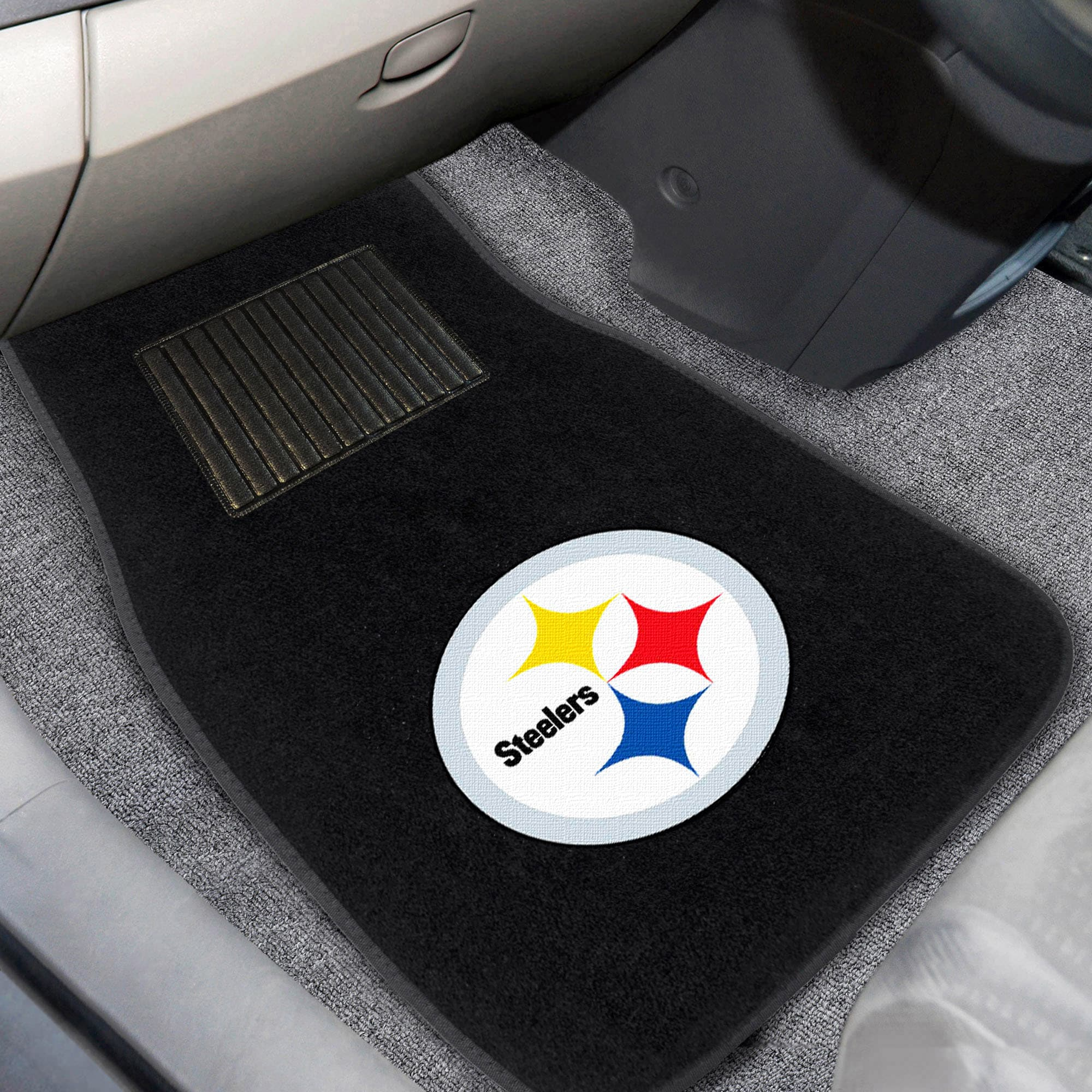 Pittsburgh Steelers 2-Piece Embroidered Car Mat Set