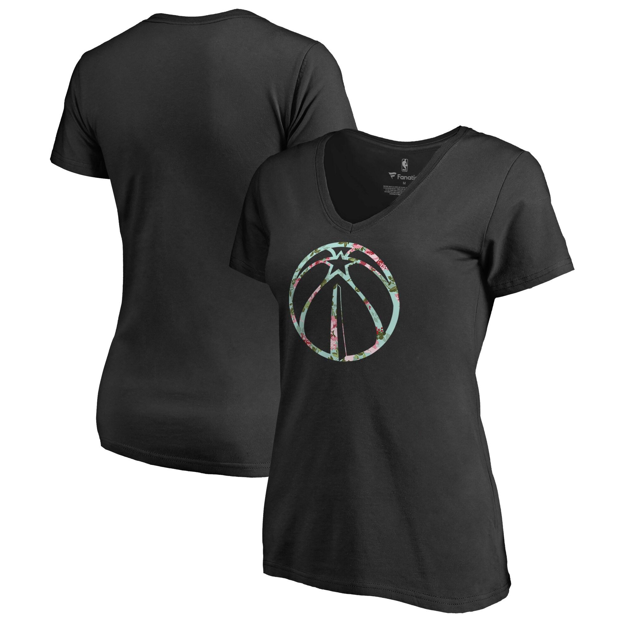 Washington Wizards Fanatics Branded Women's Lovely Plus Size V-Neck T-Shirt - Black