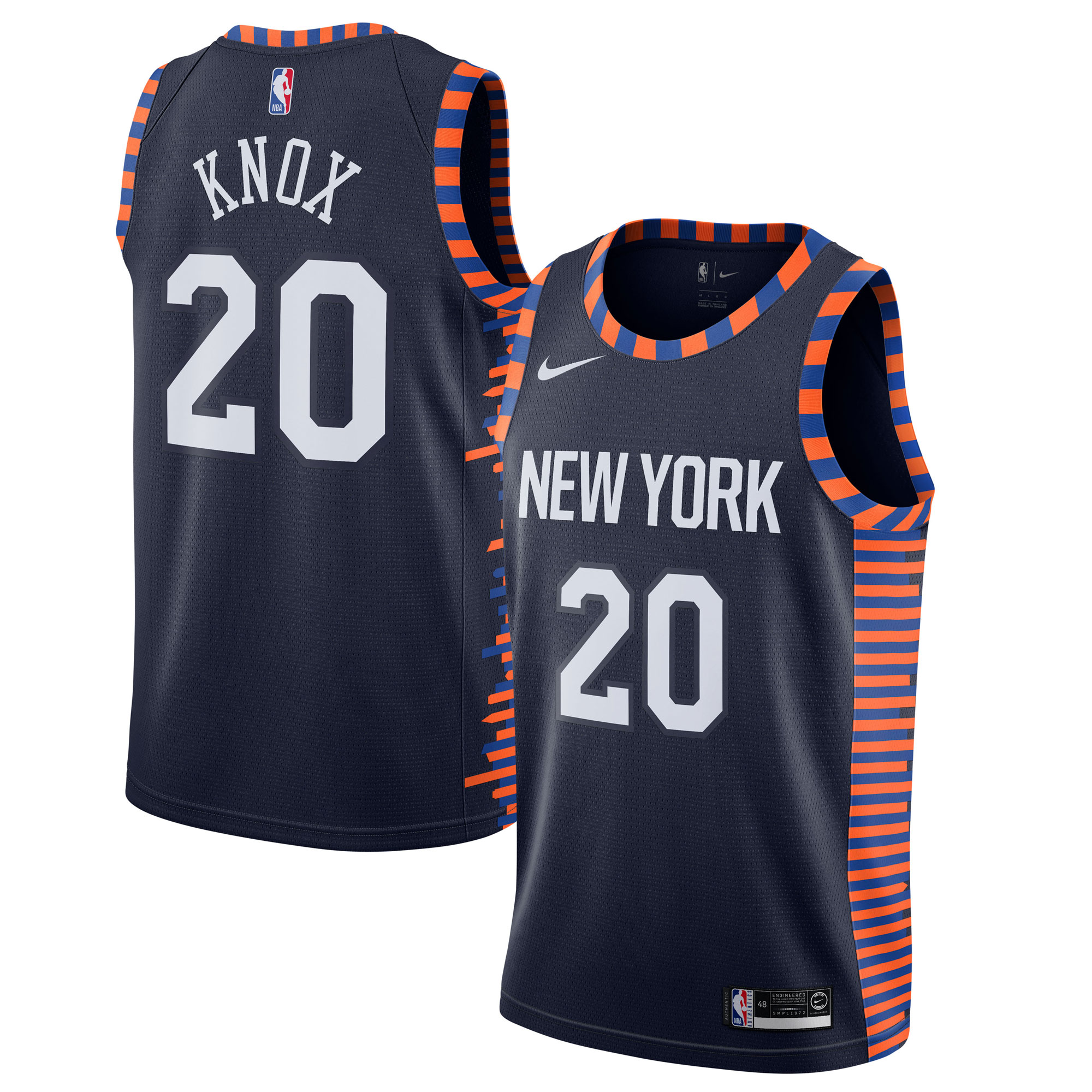 Kevin Knox II New York Knicks Nike 2019/20 Finished Swingman Jersey Navy - City Edition
