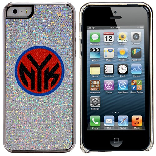 New York Knicks iPhone 5/5s Bling Thinshield Snap-On Case - Silver