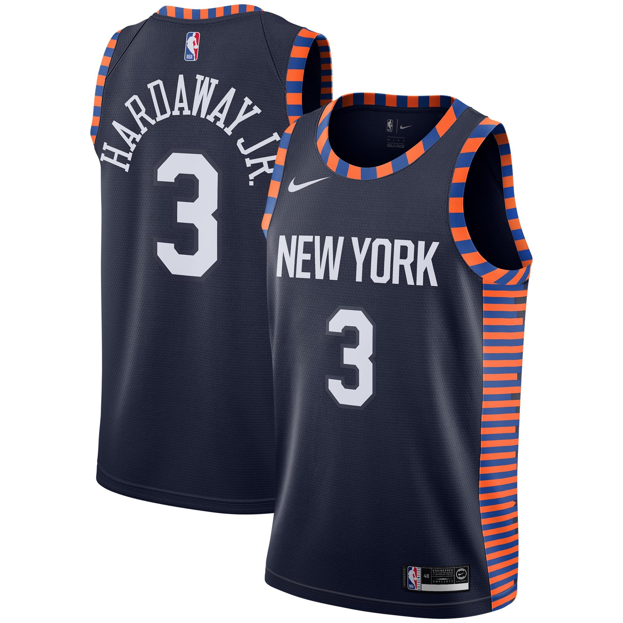Tim Hardaway Jr New York Knicks Nike City Edition Swingman Jersey - Navy