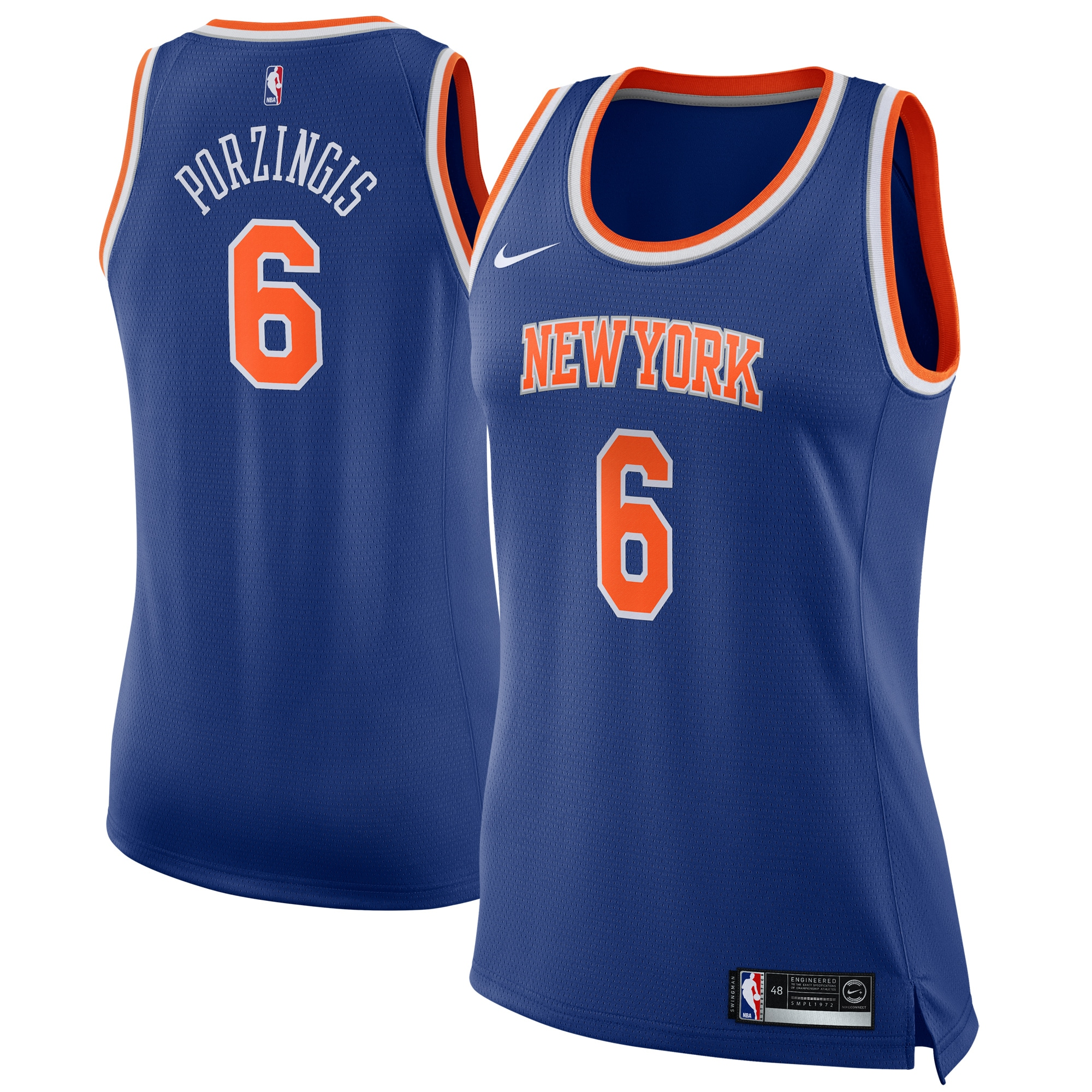 Kristaps Porzingis New York Knicks Nike Women's Swingman Jersey Blue - Icon Edition
