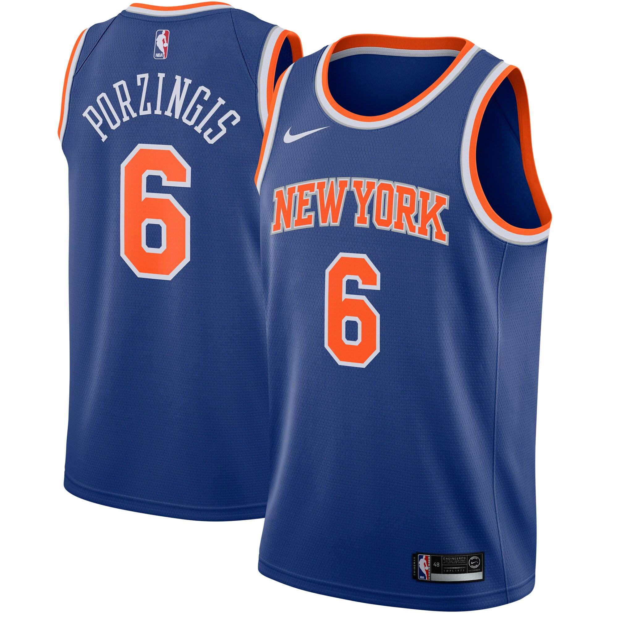 Kristaps Porzingis New York Knicks Nike Swingman Jersey Blue - Icon Edition