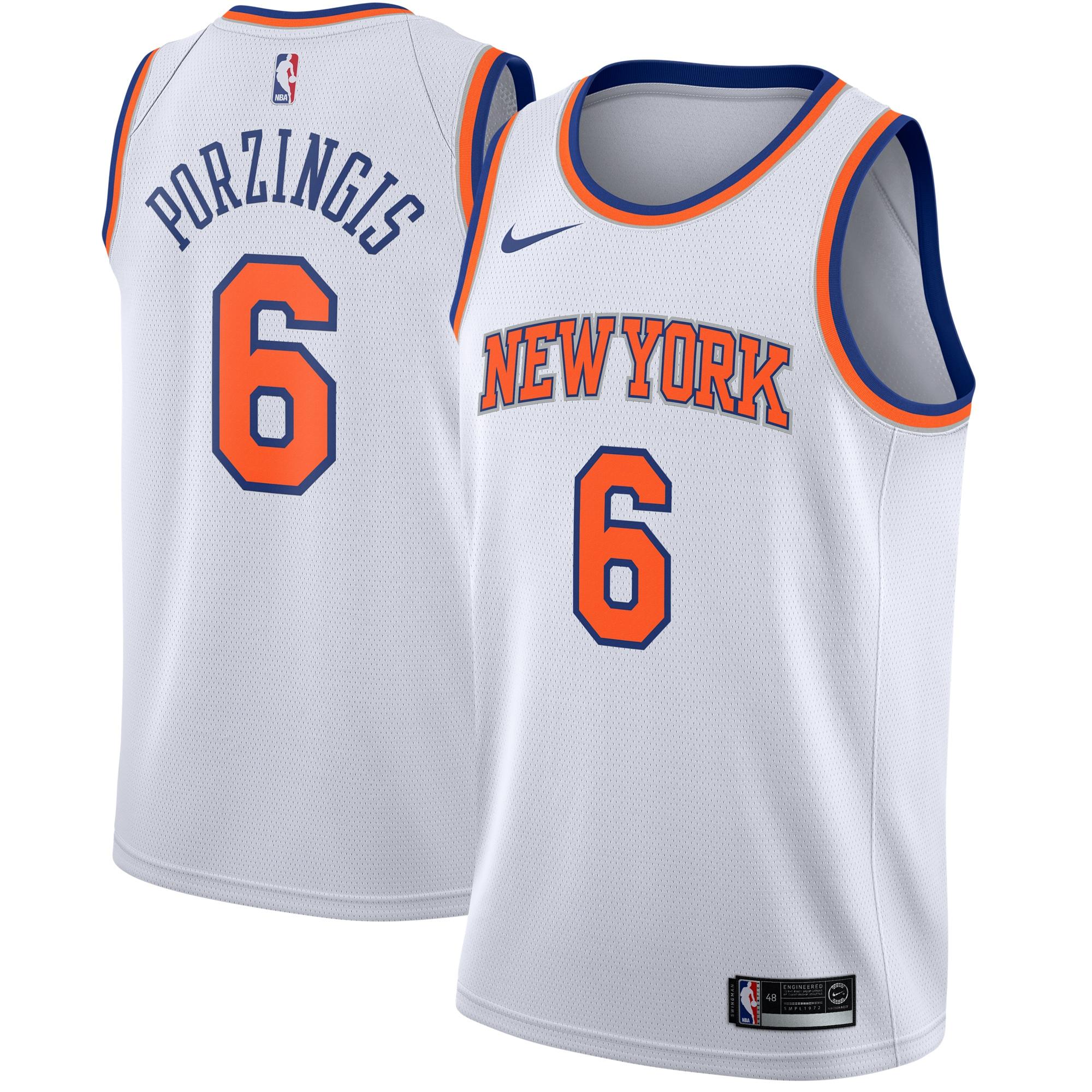 Kristaps Porzingis New York Knicks Nike Swingman Jersey White - Association Edition