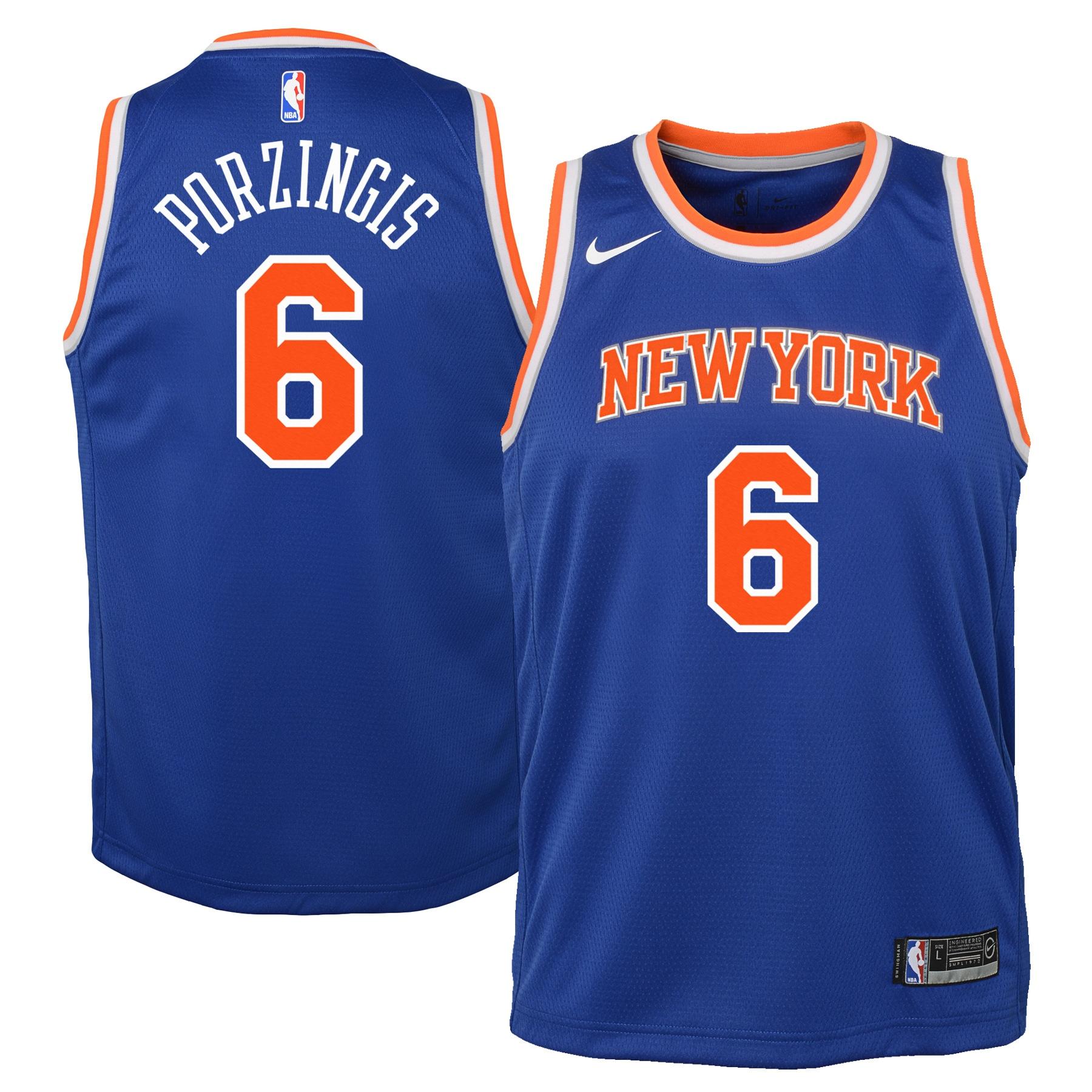 Kristaps Porzingis New York Knicks Nike Youth Swingman Jersey Blue - Icon Edition