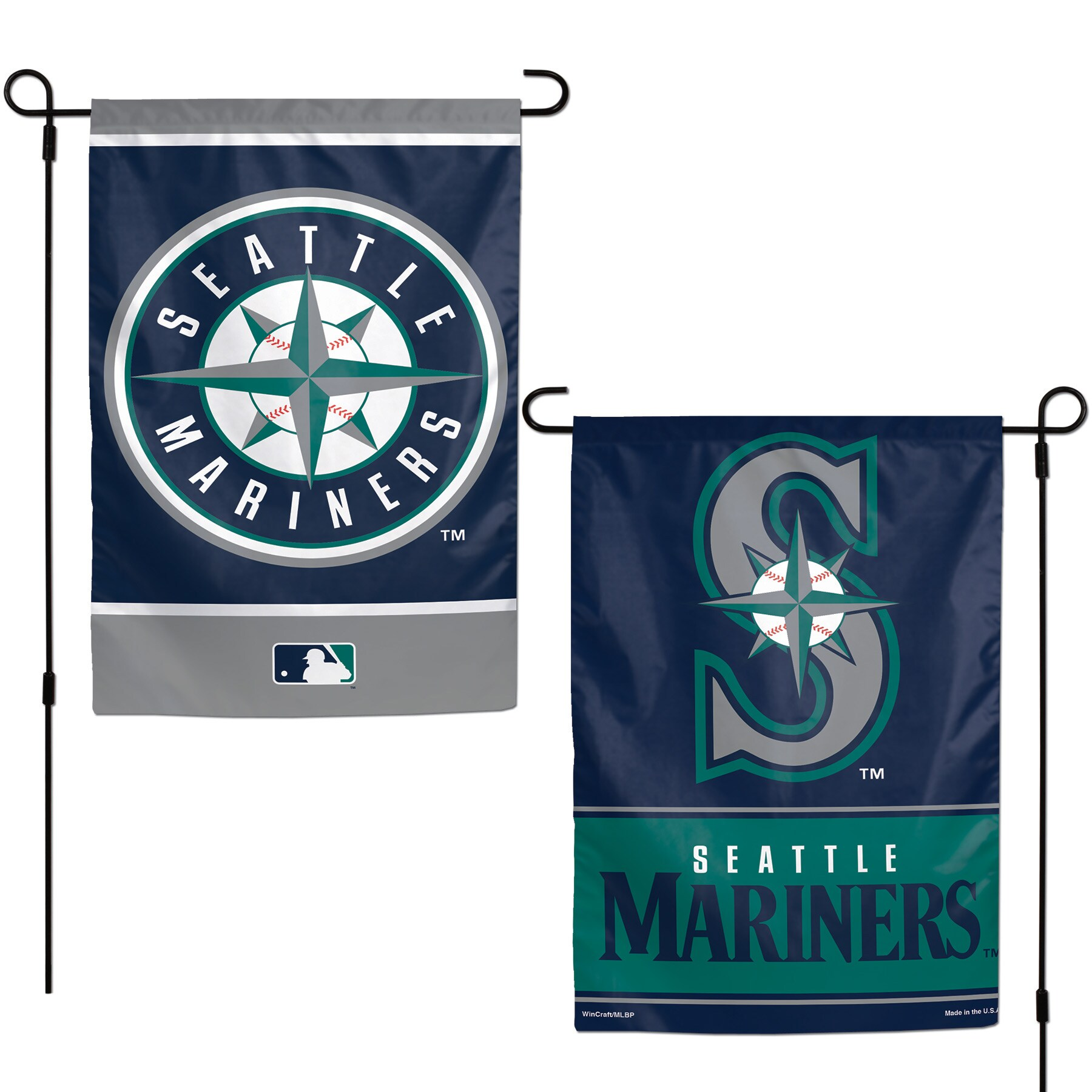 """Seattle Mariners WinCraft 12"""" x 18"""" Double-Sided Garden Flag"""
