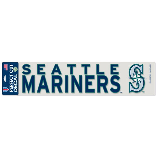 "Seattle Mariners WinCraft 4"" x 17"" Die Cut Decal - Navy"