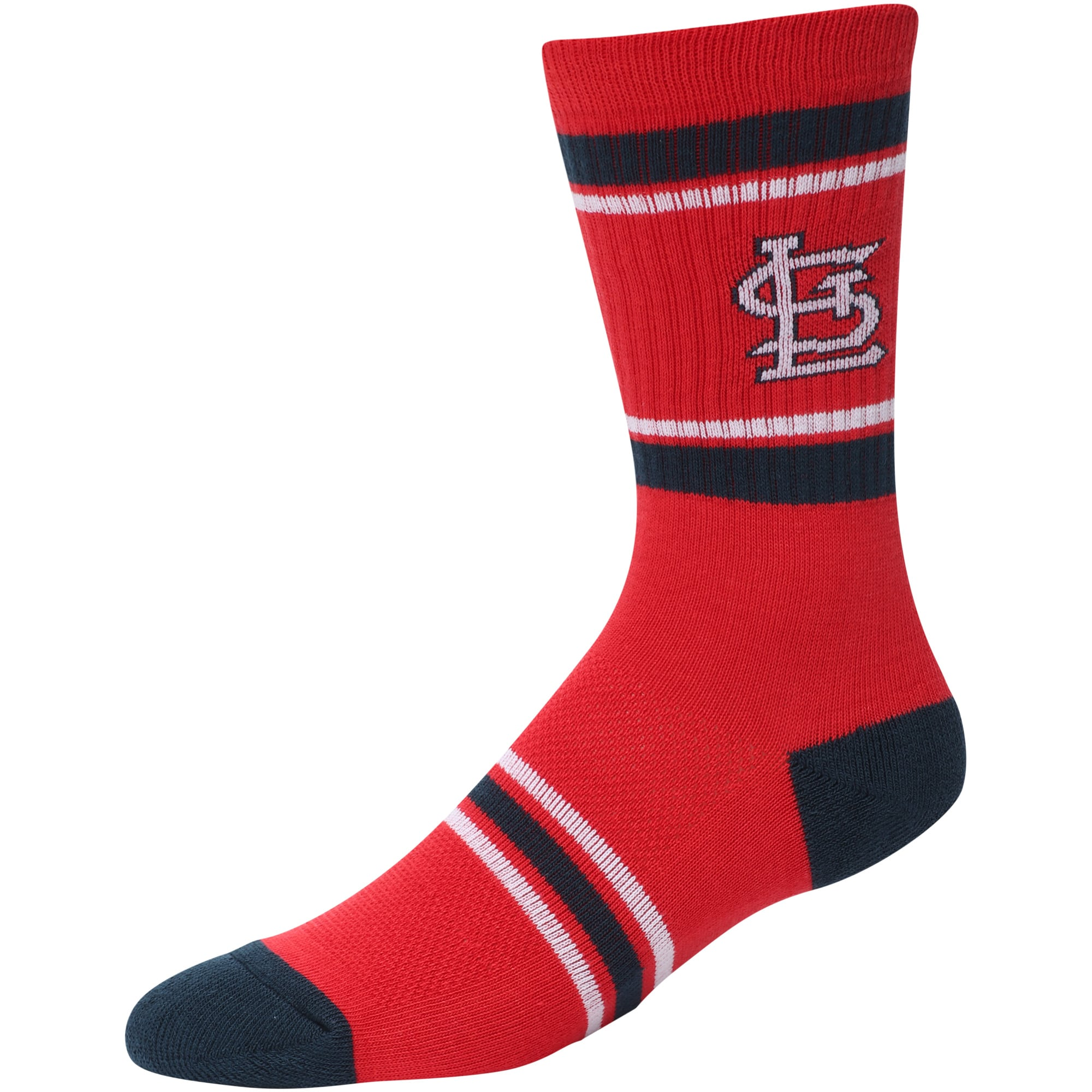 St. Louis Cardinals Stripe Crew Socks - Red
