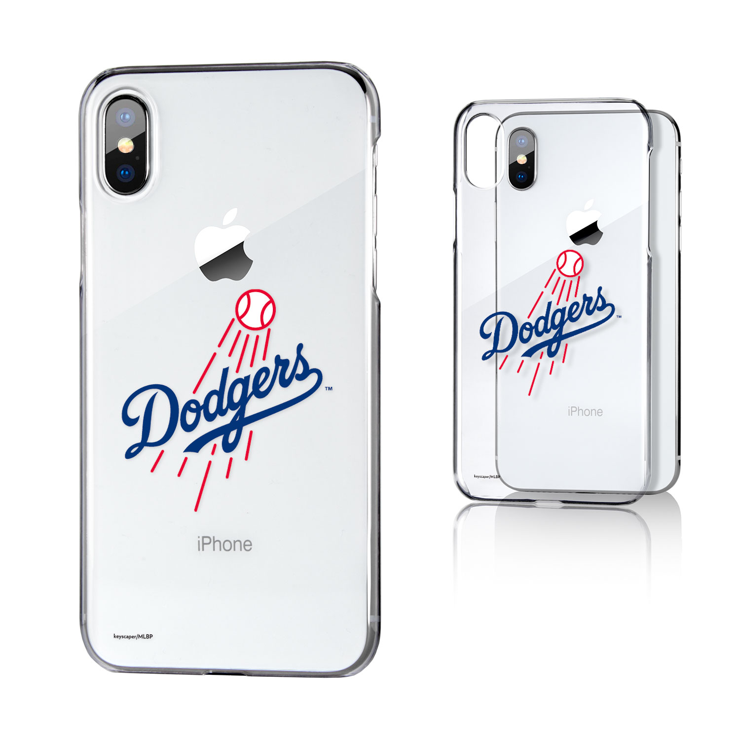 Los Angeles Dodgers iPhone X/Xs Logo Clear Case