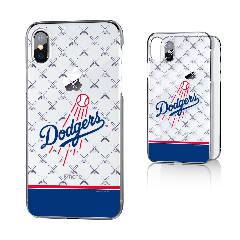 Los Angeles Dodgers iPhone X/Xs Stripe Logo Clear Case