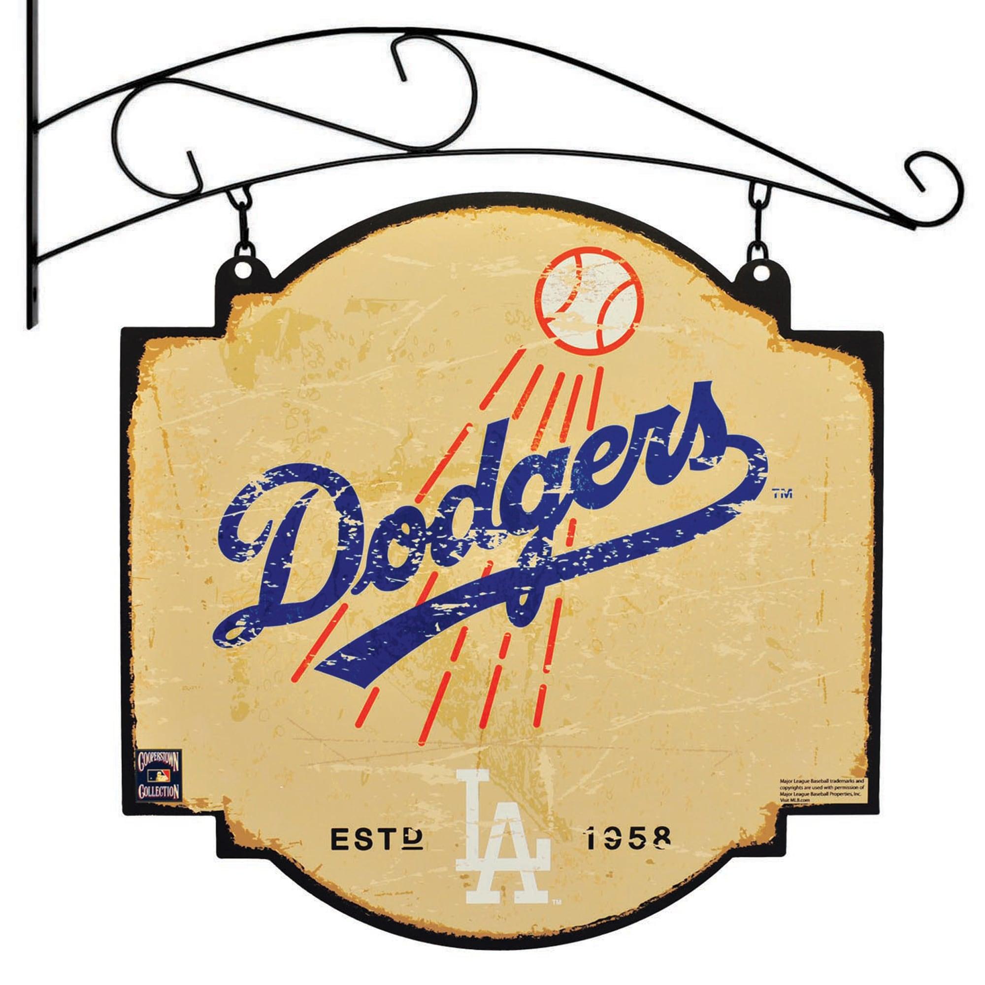 "Los Angeles Dodgers 16"" x 16"" Tavern Sign - Cream"