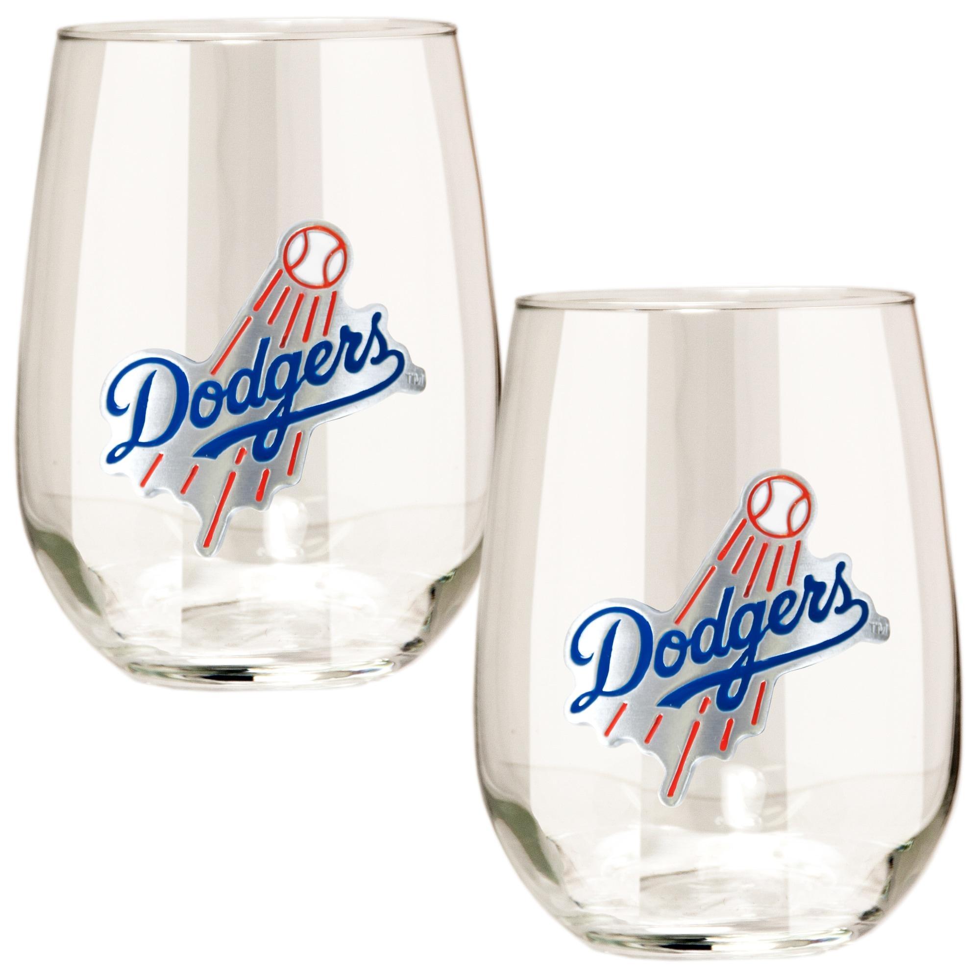 Los Angeles Dodgers Stemless Wine Glass Set
