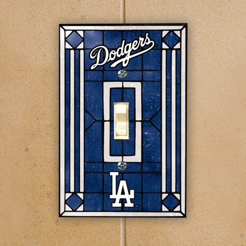 Los Angeles Dodgers Art Glass Switch Plate Cover