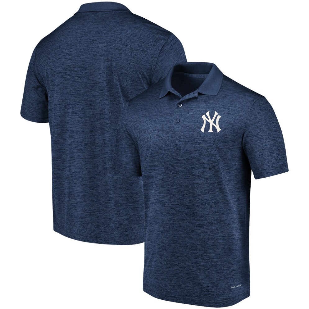 New York Yankees Majestic Targeting Success Domestic Cool Base Polo - Navy