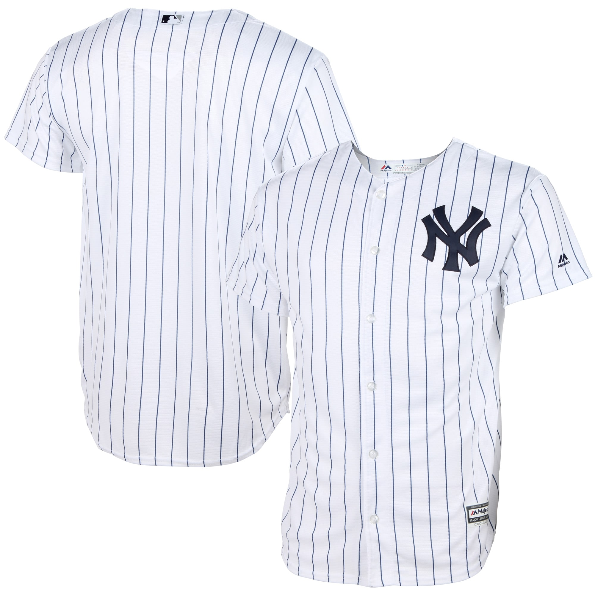 New York Yankees Majestic Youth Official Cool Base Jersey - White