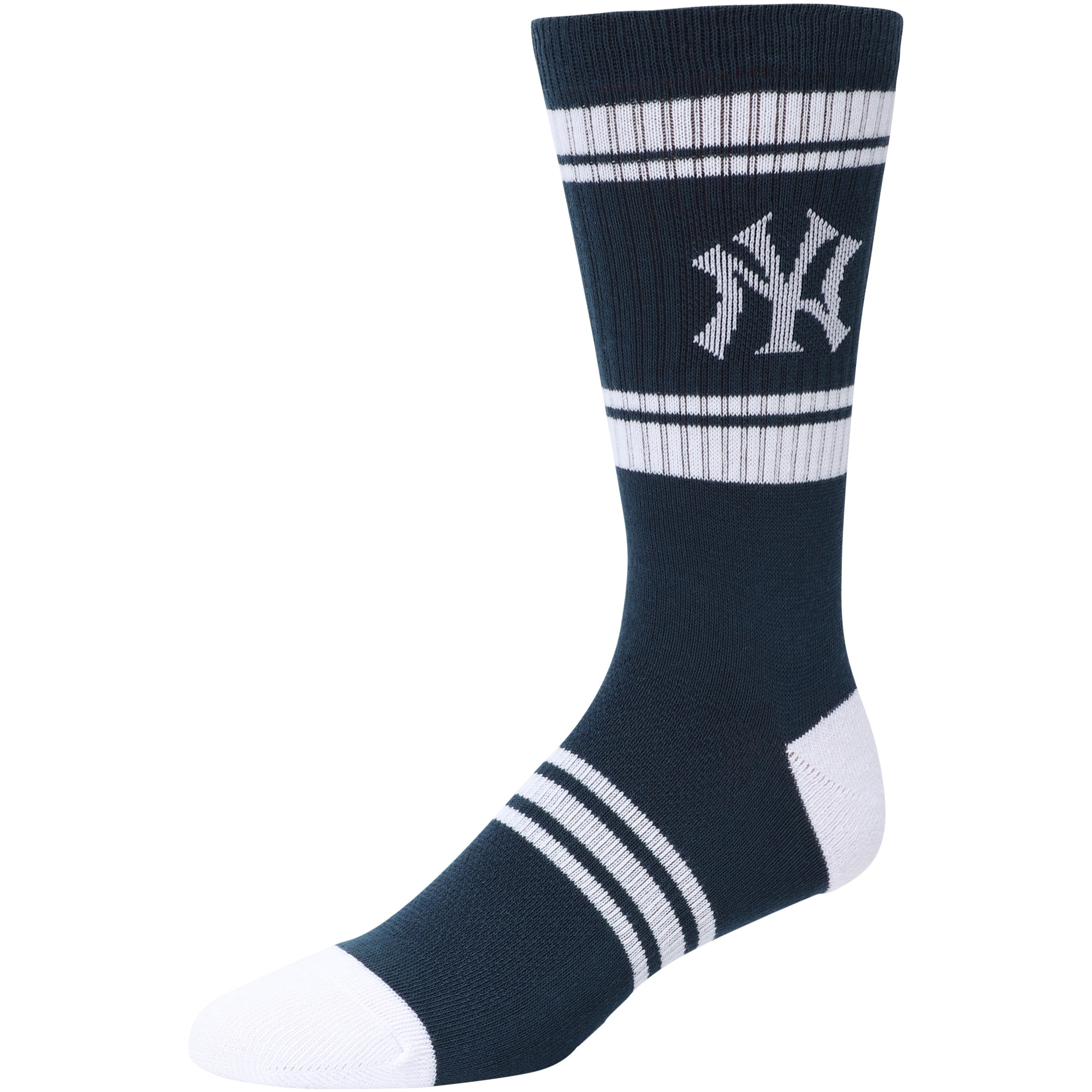 New York Yankees Stripe Crew Socks - Navy