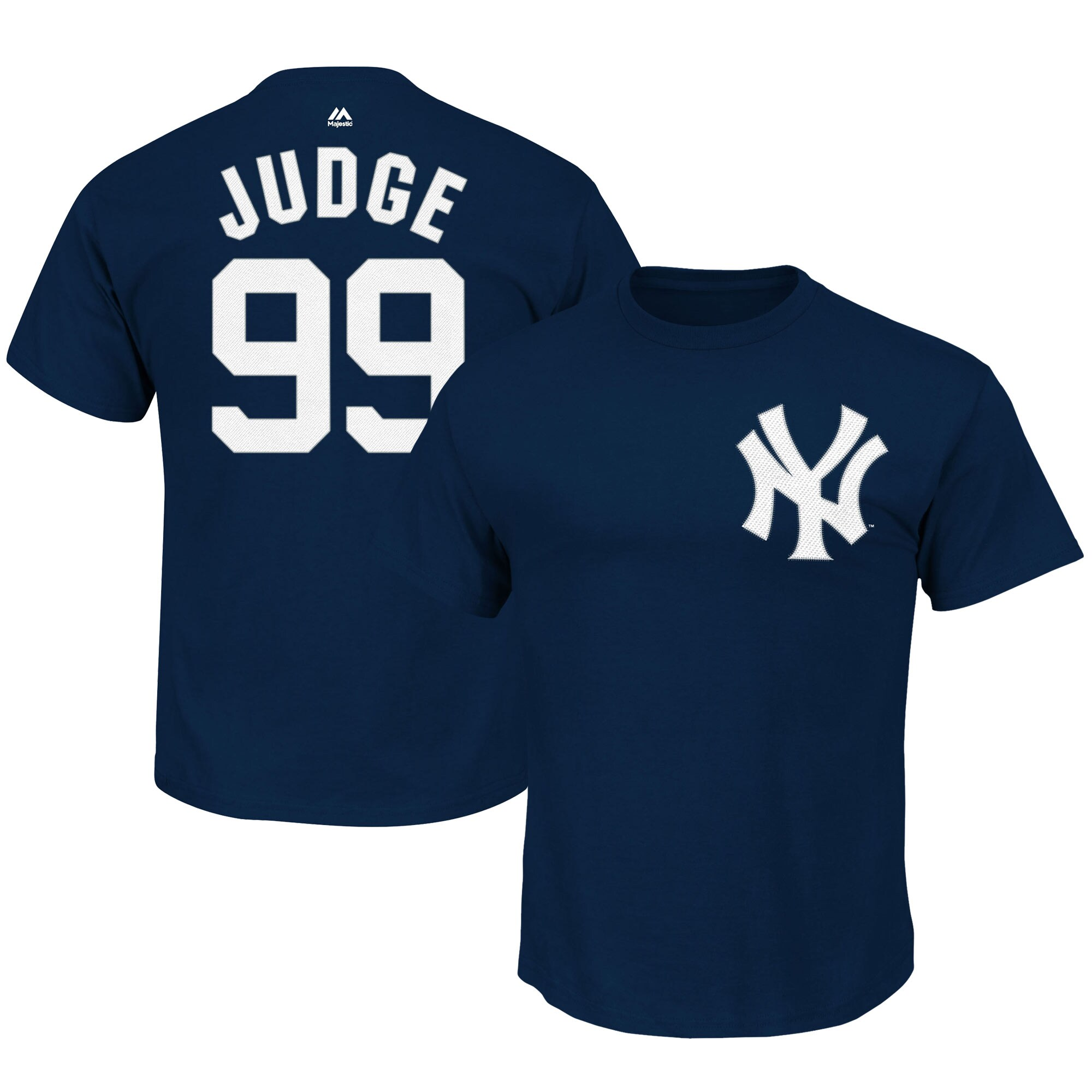 Aaron Judge New York Yankees Majestic Big & Tall Name & Number Player T-Shirt - Navy
