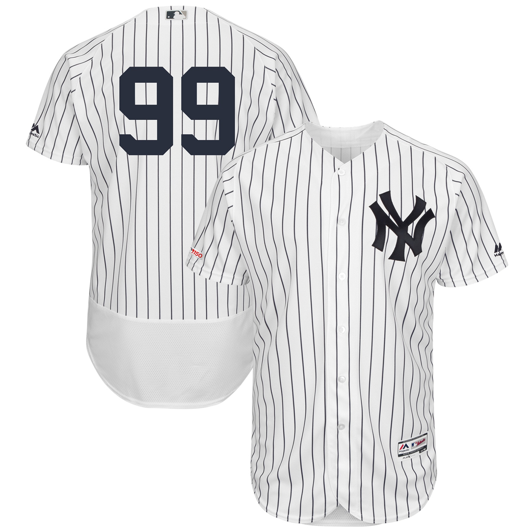 Aaron Judge New York Yankees Majestic Home Authentic Collection Flex Base Player Jersey - White