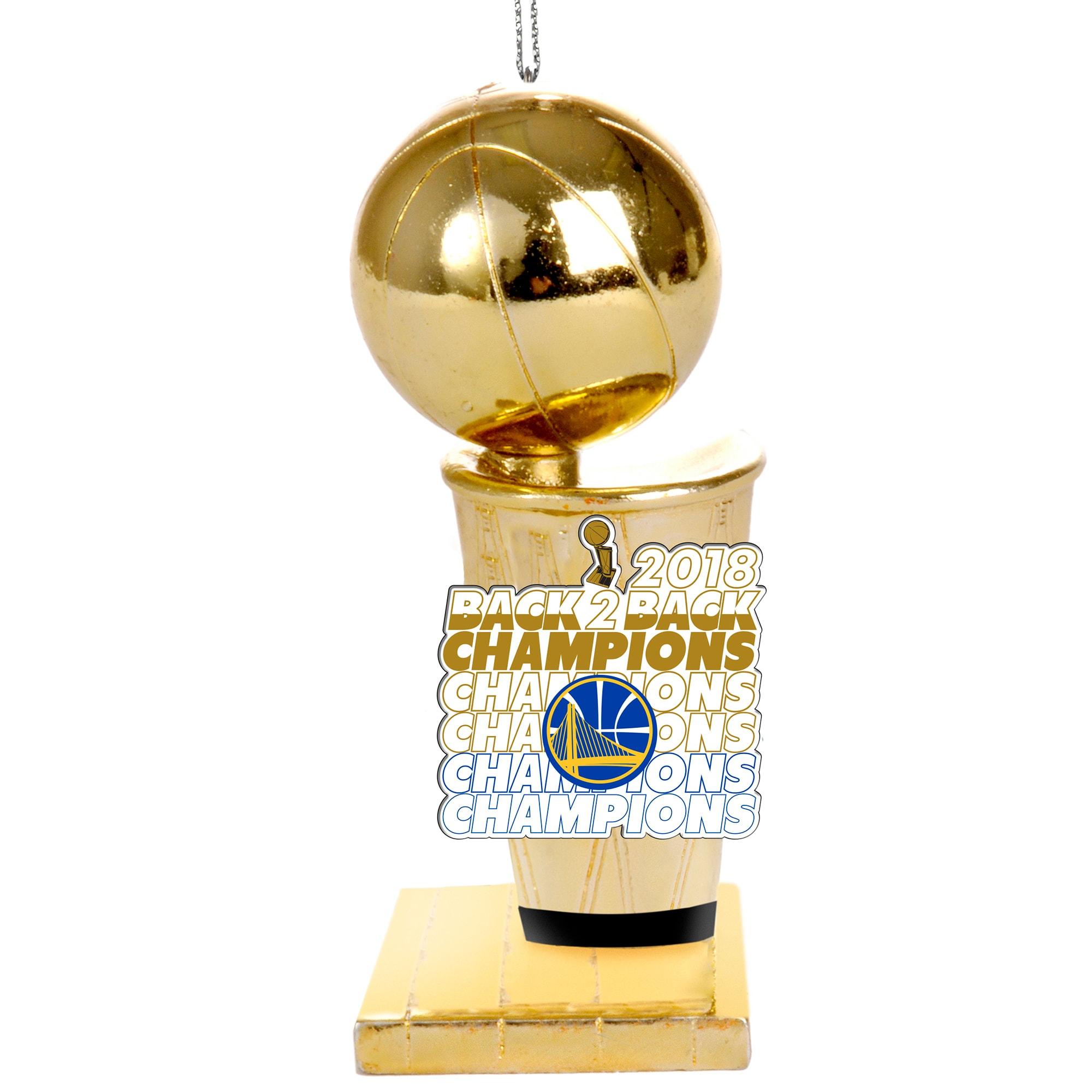 Golden State Warriors 2018 NBA Finals Champions Trophy Ornament