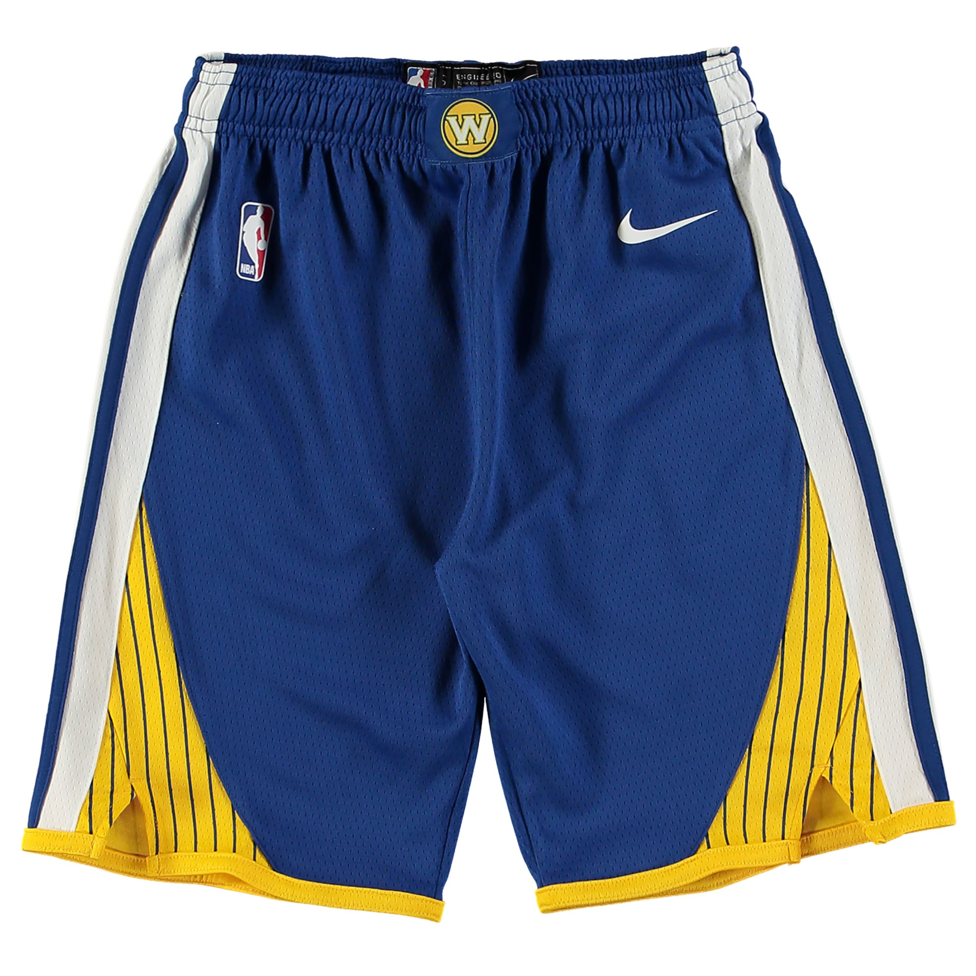 Golden State Warriors Nike Youth Swingman Icon Performance Shorts - Royal/Gold