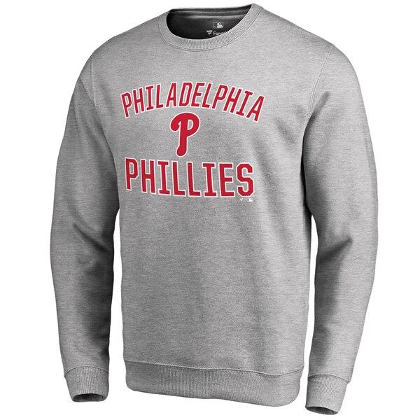 Philadelphia Phillies Victory Arch Pullover Sweatshirt - Ash