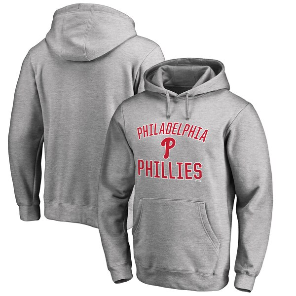 Philadelphia Phillies Big & Tall Victory Arch Pullover Hoodie- Ash