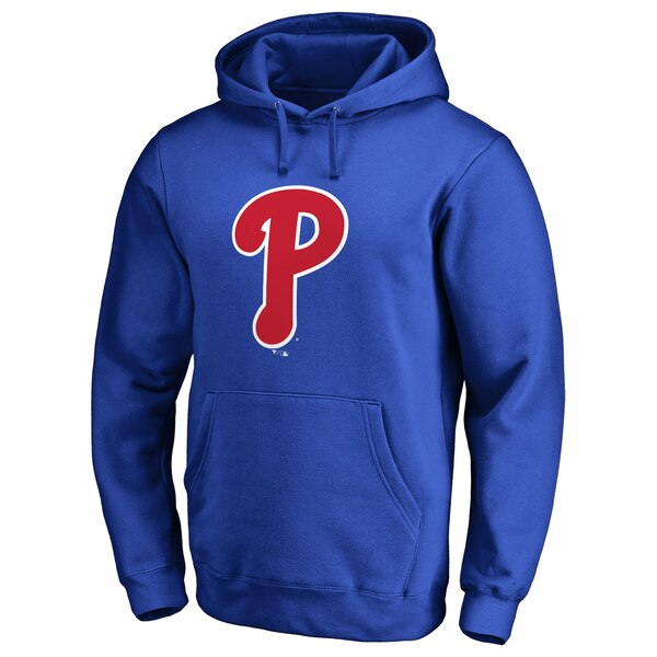 Philadelphia Phillies Secondary Color Primary Logo Pullover Hoodie - Royal