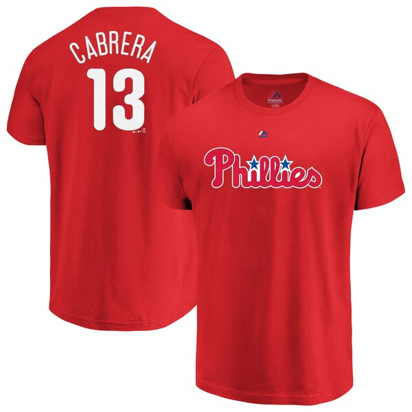 Asdrubal Cabrera Philadelphia Phillies Majestic Official Name & Number T-Shirt - Red