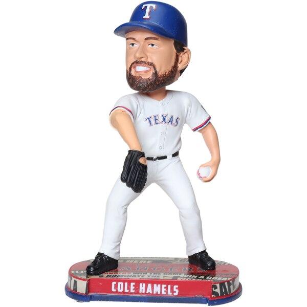 Cole Hamels Texas Rangers Headline Bobblehead