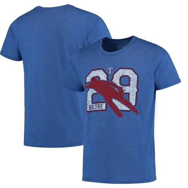 Adrian Bellard Texas Rangers Majestic Threads Player Silhouette Tri-Blend T-Shirt - Royal