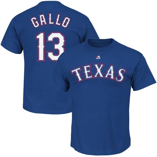 Joey Gallo Texas Rangers Majestic Big & Tall Player T-Shirt - Royal