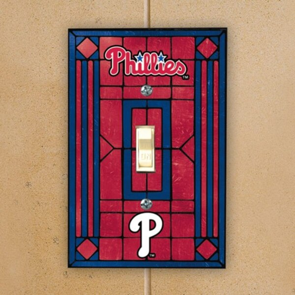 Philadelphia Phillies Art Glass Switch Plate Cover
