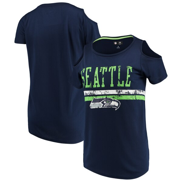 Seattle Seahawks G-III 4Her by Carl Banks Women's Clear the Bases Scoopneck T-Shirt - College Navy