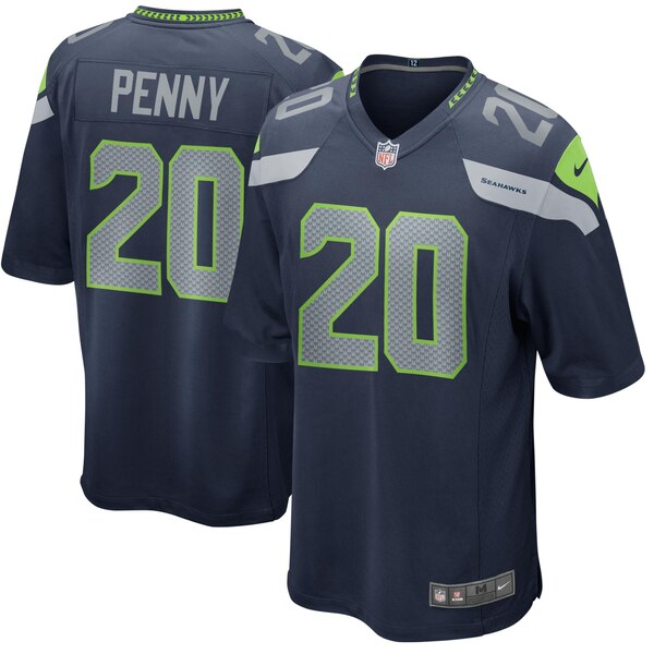Rashaad Penny Seattle Seahawks Nike Game Jersey - Navy