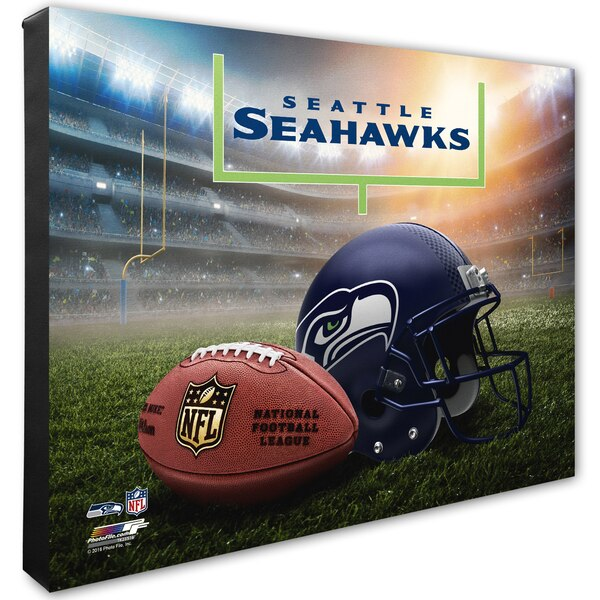"Seattle Seahawks 16"" x 20"" Helmet & Stadium Canvas"