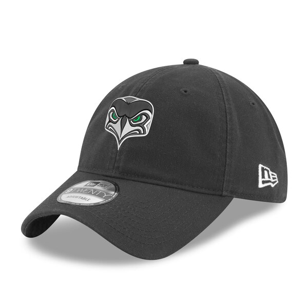 Seattle Seahawks New Era Alternate Team Logo Gear 9TWENTY Adjustable Hat - Graphite