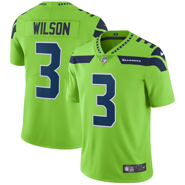 Russell Wilson Seattle Seahawks Nike Vapor Untouchable Color Rush Limited Player Jersey - Neon Green