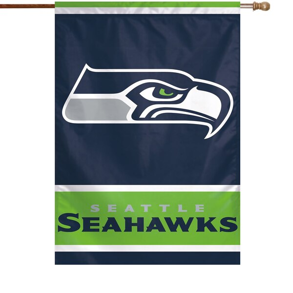 "Seattle Seahawks WinCraft 28"" x 40"" Primary Logo Single-Sided Vertical Banner"