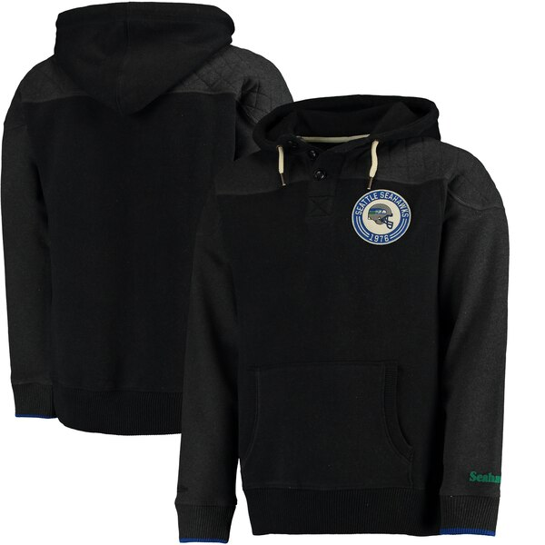 Seattle Seahawks Mitchell & Ness Play By Play Pullover Hoodie - Black