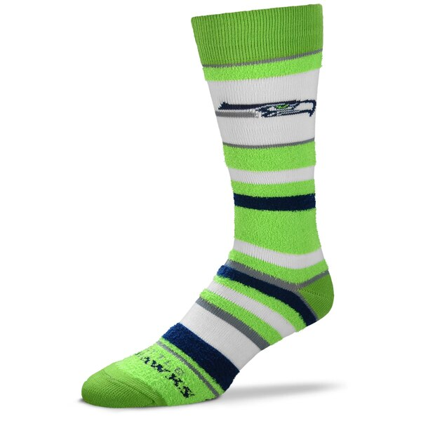 Seattle Seahawks For Bare Feet Women's Soft Stripe Quarter-Length Socks