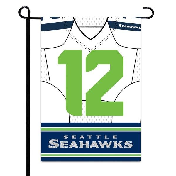 """Seattle Seahawks 12.5"""" x 18"""" Double-Sided Jersey Foil Garden Flag"""