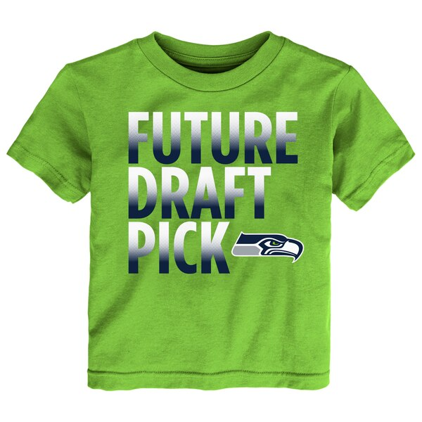 Seattle Seahawks Toddler Future Draft Pick T-Shirt - Neon Green