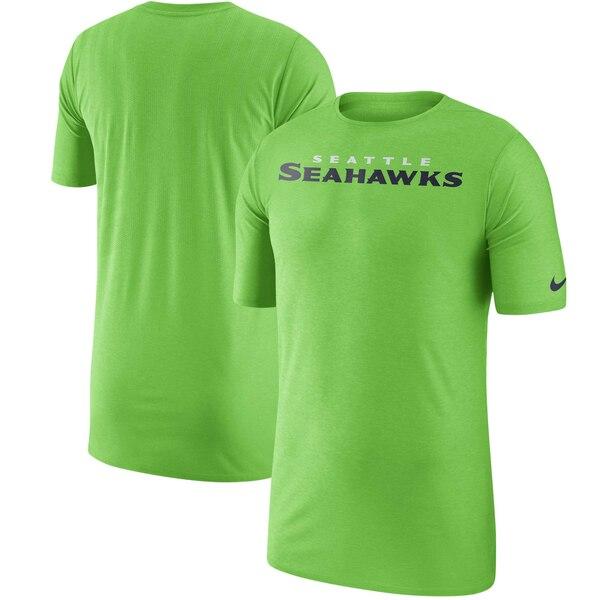 Seattle Seahawks Nike Sideline Player T-Shirt - Neon Green