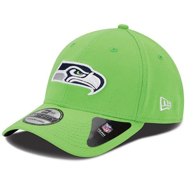 Seattle Seahawks New Era Team Classic 39THIRTY Flex Hat - Neon Green