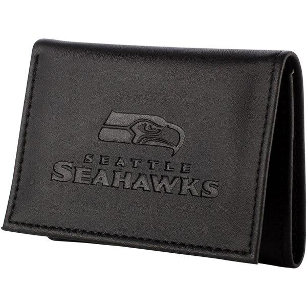 Seattle Seahawks Hybrid Tri-Fold Wallet - Black