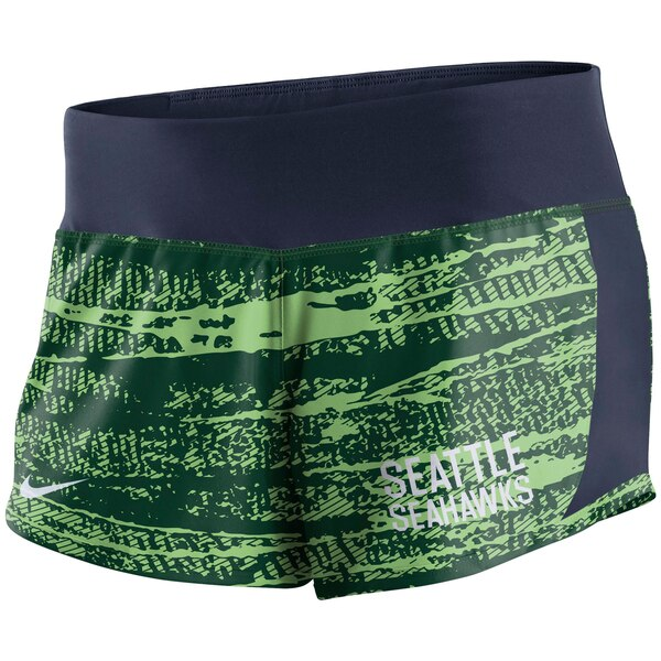 Seattle Seahawks Nike Women's Crew Shorts - Neon Green