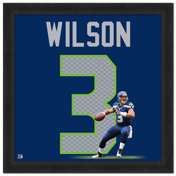 "Russell Wilson Seattle Seahawks 20"" x 20"" Player Uniframe"